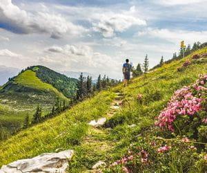 Wandern ohne Gepäck durch die Berge der Osterhorngruppe