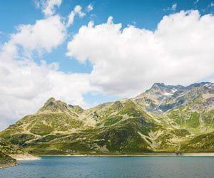 Mountain lake in Splügen
