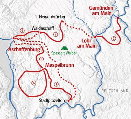 Spessart walking map