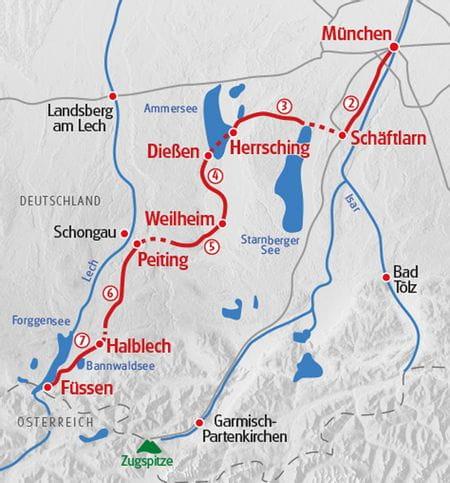 Wandern Muenchner Jakobsweg Karte