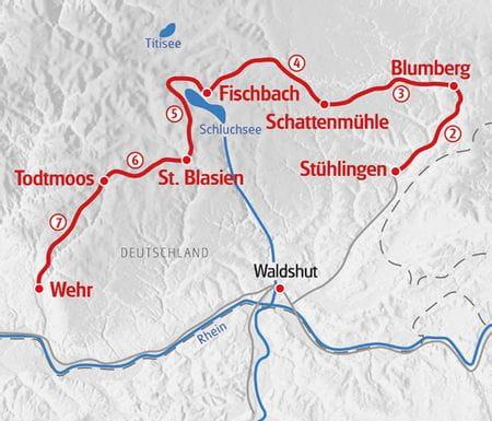 Hiking Schluchtensteig map