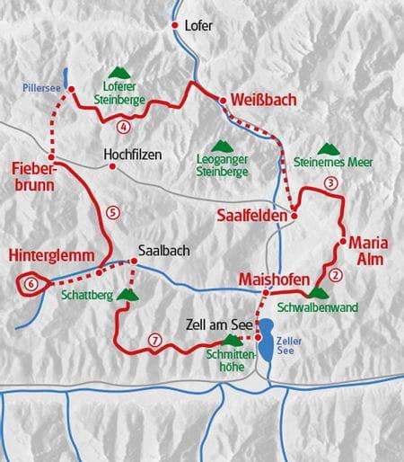 Hiking Pinzgau Map