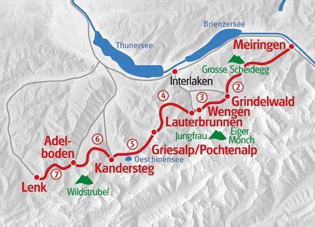 Hiking Via Alpina map