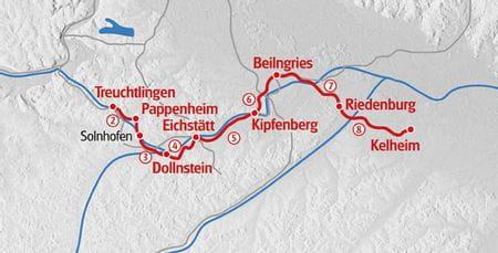 Hiking Altmuehltal map