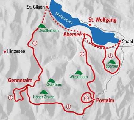 Almwandern Salzkammergut Karte