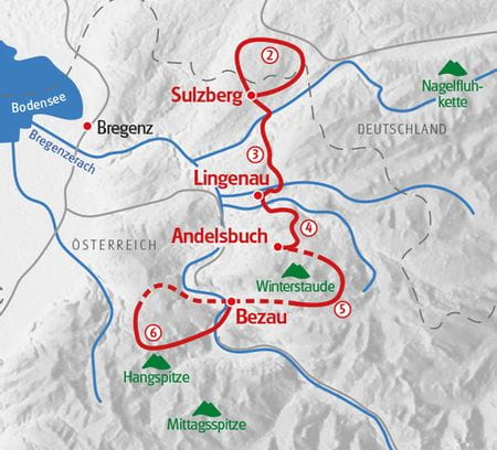 Map Hiking Bregenz Forest