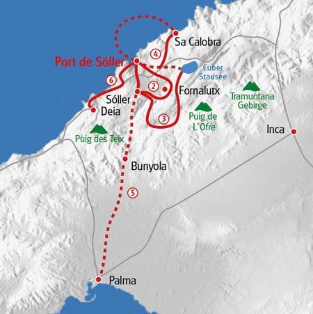 Mallorca Westküste Karte