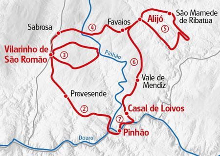 Douro - Valley Hiking Map