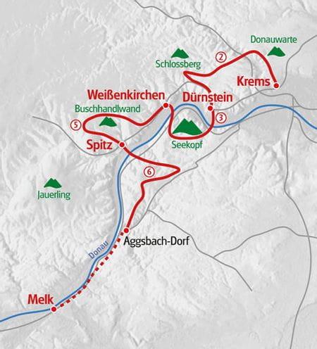 Walking Wachau map