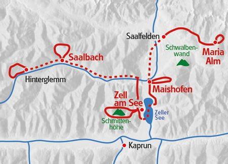 Wanderreise Pinzgau Karte
