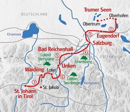 Walking Pilgrim Trail from Salzburg to Tyrol