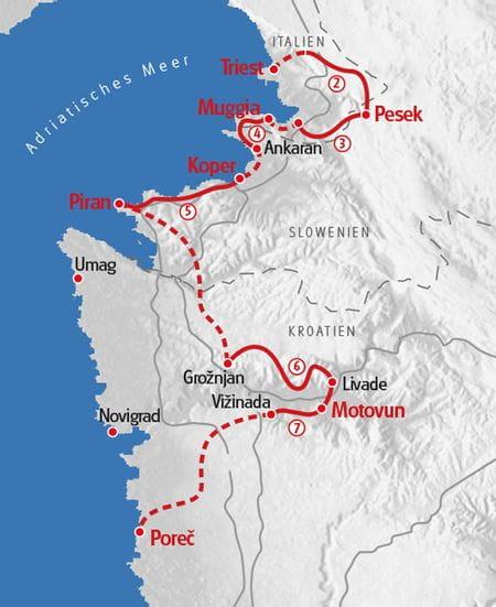 Hiking Istria Map