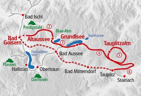 Wandern Steiermark - Ausseerland Karte