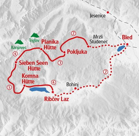 Hiking Julian Alps Map
