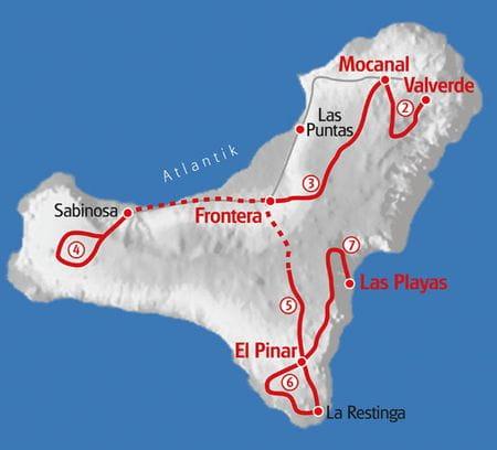 Walking El Hierro map
