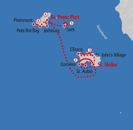 Wanderung Kanalinseln Karte
