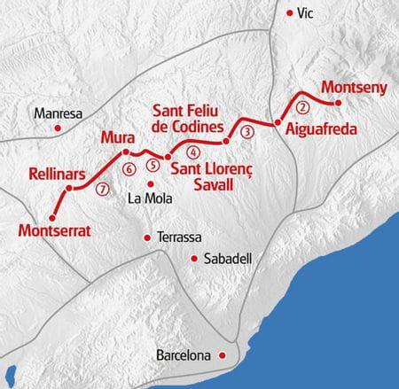 Wandern Katalonien Karte