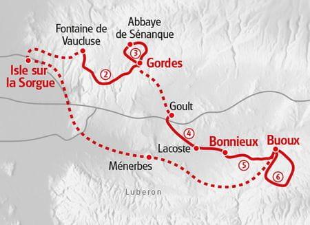 Walking Provence map