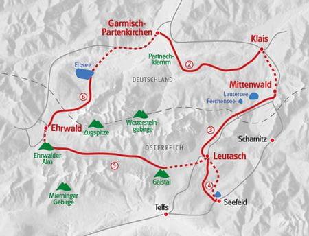 Hiking Zugspitze map