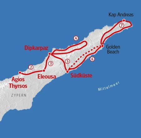 Hiking Cyprus map
