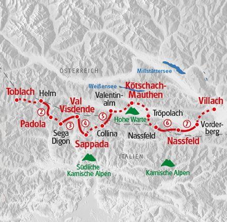 Hiking Map Karnischer High Altitude Path