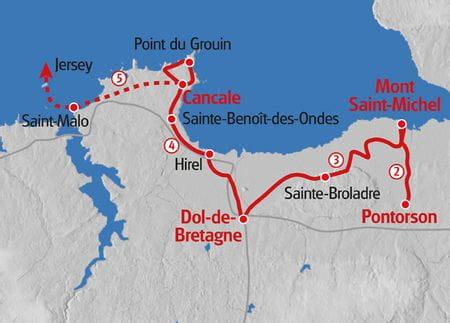 Wandern Normandie Karte