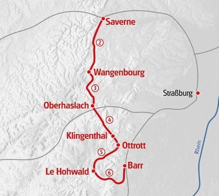 Hiking Elsass 2 map