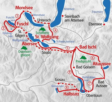 Zehn Seen Trekking Karte