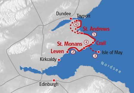 Fife Coastal Path Hiking Map