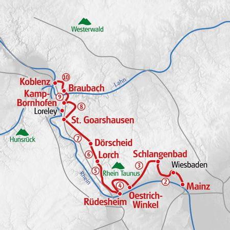Rhine Walking map