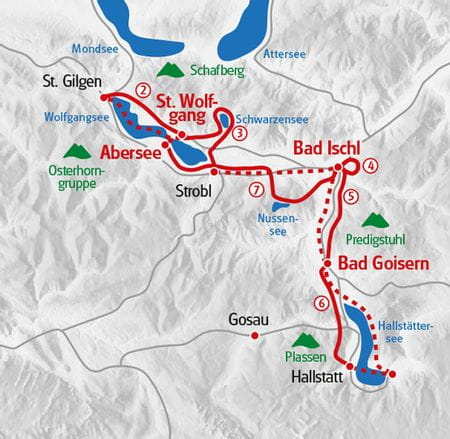Wandern Salzkammergut Karte