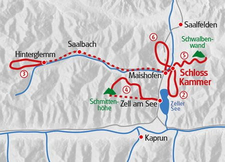 Wandern Karte Eurohike Panoramawandern Pinzgau - Schloss Kammer