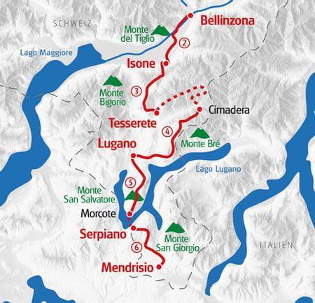 Wandern Tessin Karte