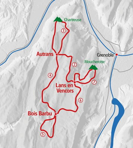 Wandern Vercors Karte