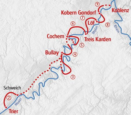Moselsteig Walking Map