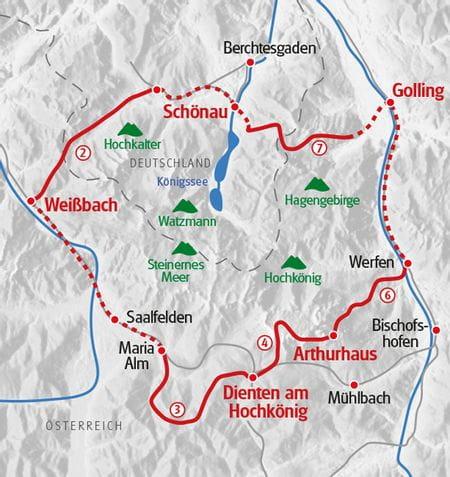 Hiking Lake Koenigssee Map