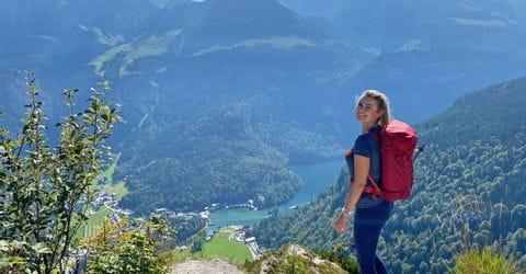 Hiker in the Berchtesgaden Alps