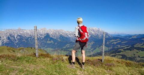 Höhenwandern mit Blick auf das Steinere Meer