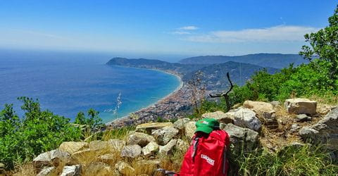 Wanderrast an der ligurischen Küste