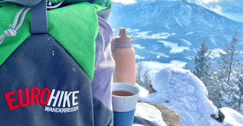 Tea during a winter hike