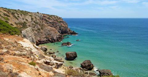 Küstenformationen an der Algarve