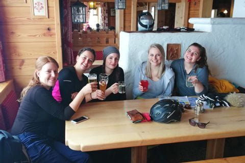 Eurofun-Team in der Skihütte