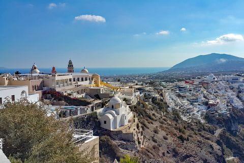 Panoramic views in Santorini