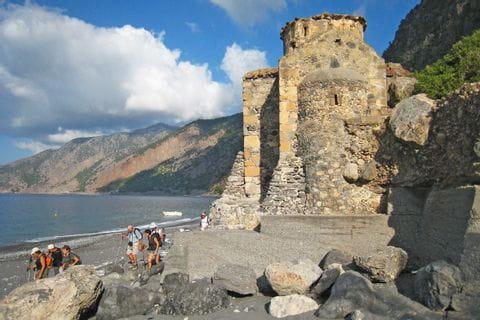 Chapel right on the coast in Agios Pavlos