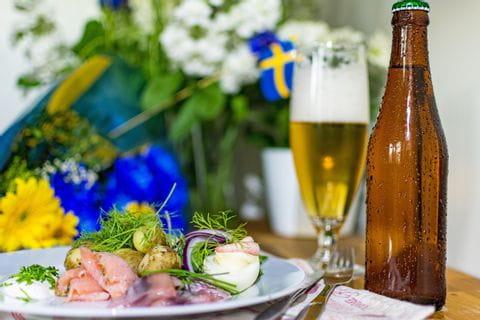 Schwedisches Gericht Klämma mit Surströmming