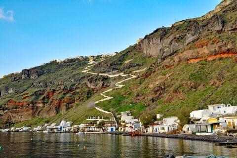 Imposanter Panoramablick in Santorin