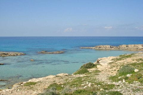 Turquoise sea in Cyprus