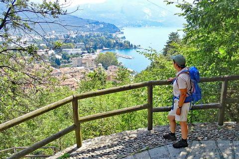 Wanderausblick auf Riva del Garda am Gardasee