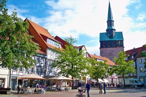 Stadtcentrum der kleinen Stadt Osterode