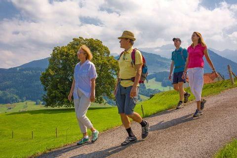 Wanderung entlang des Alpenpanoramaweges